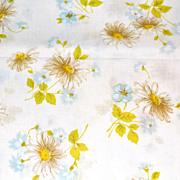 SALE 1960/70s Morgan Jones ~ Yellow Daisies No Iron Twin Flat Sheet