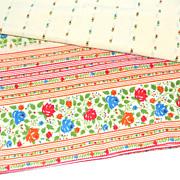 SALE 1960s Fieldcrest ~ Yellow Striped Rose Percale Pillowcase