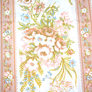 SOLD 1960s St. Mary's ~ Ivory & Copper Percale Twin Flat Sheet - Red Tag Sale Item