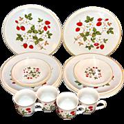 SALE Sheffield ~ Strawberries n' Cream 16-Pc Dinnerware Set