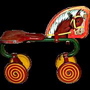 SALE 1940s Horse Cycle w/ Lollipop Wheels