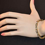 SALE Sterling Silver Vermeil & Cubic Zirconia Baguette Bracelet