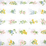 SALE 1960s Tastemaker ~ Trellis Garden Twin Percale Flat Sheet