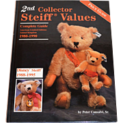 SALE 1996 2nd Collector Steiff Values Hardcover Book