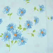 SALE 1960s Pacific Miracale ~ Blue Daisy Standard Pillowcase