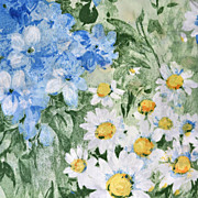 SALE 1980s Dan River ~ Monet-Inspired Ruffled Pillow Sham