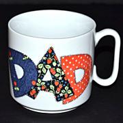 SALE VTG Patchwork Style Dad Ceramic Pottery Mug