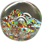 SALE Colorful Confetti Art Glass Paperweight