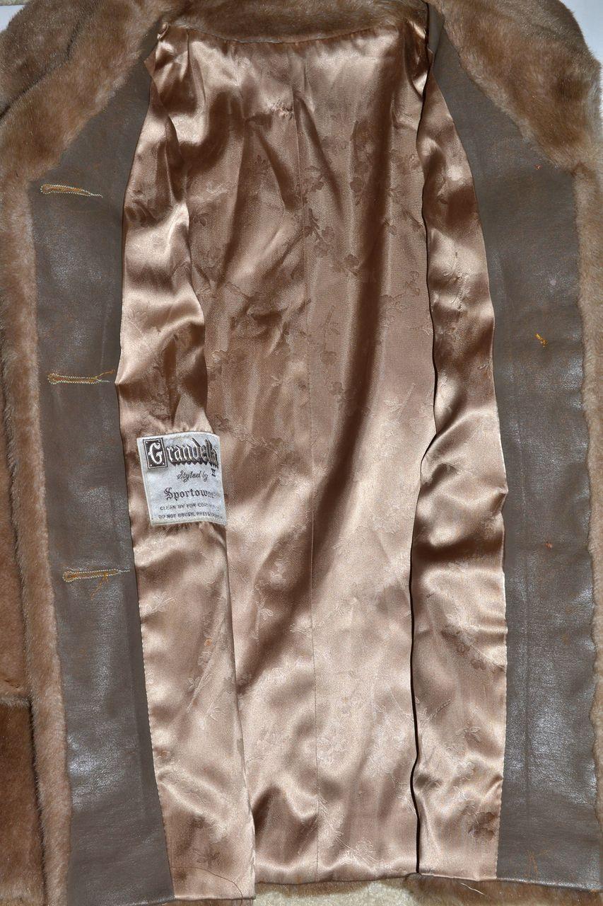 1960s Grandella Sportowne Honey Brown Faux Fur Coat
