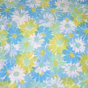 SALE 1960s Pequot ~ Pair of Blue & Lime Green King-Size Pillowcases