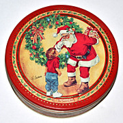 SALE Swiss Colony ~ H. Endres Christmas Santa Candy Tin