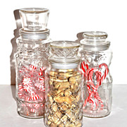 SALE Set of 3 Planters Peanuts Jars