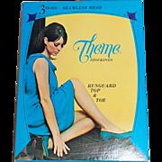 SALE 1960s Theme Stockings ~ Nylon Stockings Lingerie Box
