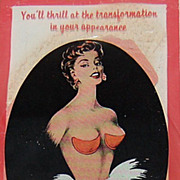 SALE 1940/50s Bleumette Push-Up Bra Pads in Original Package