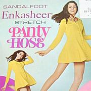 SALE 1960s Enkasheer ~ White Nylon Go-Go Pantyhose