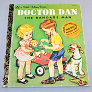 SALE 1992 Doctor Dan The Bandage Man Little Golden Book w/ Band-Aid