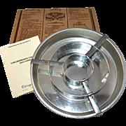 SALE Chicago Metallic Checkerboard Cake Set w/ Original Box & Instructions