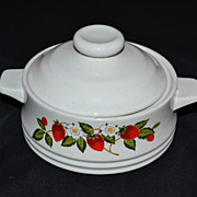 SALE Sheffield ~ Strawberries n' Cream Sugar Bowl with Lid