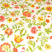 SALE 1960/70s Pequot ~ Yellow & Orange Flower Pillowcase
