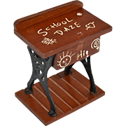 SALE Judi's Sweet Shoppe SCHOOL DAZE Student's Desk Figural Wood & Metal Candy Container