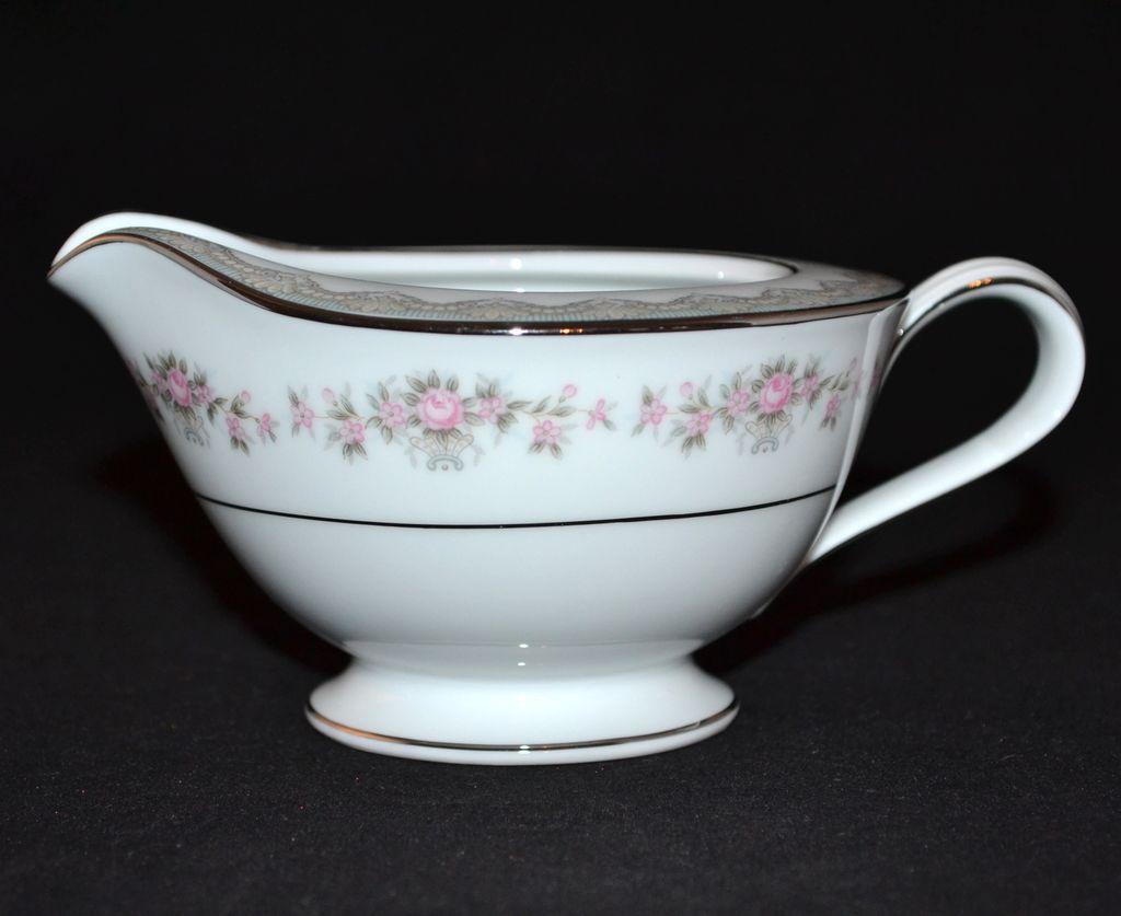Noritake Glenwood Pink Rose Porcelain Creamer From