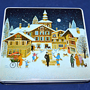SALE 1986 F de Gail ~ Christmas Candy Tin