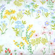 SALE 1960/70s Utica ~ Festive Flower No Iron Full Flat Sheet
