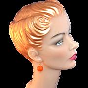 SALE Orange Drop Dangle Earrings