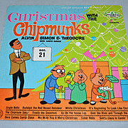 SALE 1962 Christmas with the Chipmunks LP Record