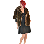 SALE Glenoit ~ Deep Pile Faux Fur Cape/Coat