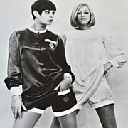 SALE 1966 Mary Quant Girls in Mini Pants B&W 8x10 Press Photo