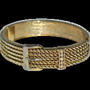 SALE Victorian-Inspired Buckle Rhinestone Clamper Bracelet