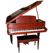 "SALE 1962 RARE Museum Quality Yamaha 5'2"" RED Baby Grand Piano & Bench ~ ..."