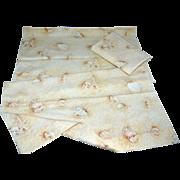 SALE Springmaid ~ Set of 2 Seashell & Sand Nautical Theme Standard Pillowcases
