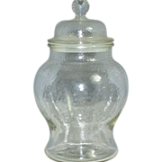 SOLD Large Textured Glass Apothecary or Ginger Jar