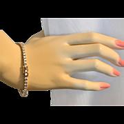 SALE Sterling Silver Vermeil Cubic Zirconia Tennis Bracelet