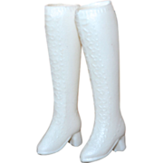 SOLD 1960s Barbie ~ Tall White Go-Go Boots
