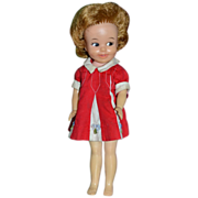 SALE 1963 Penny Brite Doll w/ Original Red Dress