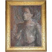 SALE Listed Artist Olga Itasca Sears ~ Nude Female Original Framed Oil Painting w/ Bonus ...