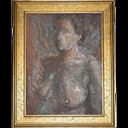 SALE Listed Artist Olga Itasca Sears ~ Nude Female Original Framed Oil Painting w/ Bonus Biogr