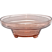 SOLD Large Pink Depression Glass Footed Compote