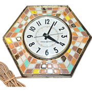 SOLD 1960s General Electric Octagonal Mosaic Kitchen Wall Clock