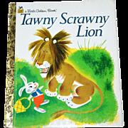 SALE Tawny Scrawny Lion ~ A Little Golden Book