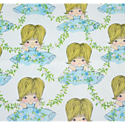 SALE 1960s Cute Girl Gift Wrap/ Wrapping Paper