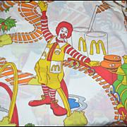 SOLD 1976 2-Pc Ronald McDonald Twin Sheet Set