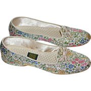 SOLD Daniel Green Floral Brocade Slippers