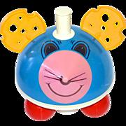 SALE Ohio Art Mechanical Mouse w/ Swiss Cheese Ears