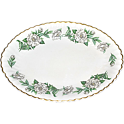 SALE 1950s Syracuse Gardenia Oval Serving Platter