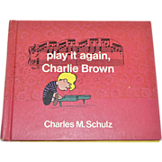 SALE 1971 'Play It Again, Charlie Brown' First Edition Hardcover Book