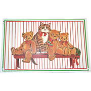 SALE Unopened Set of 10 Gordon Fraser Christmas Cat & Teddy Bear Postcards